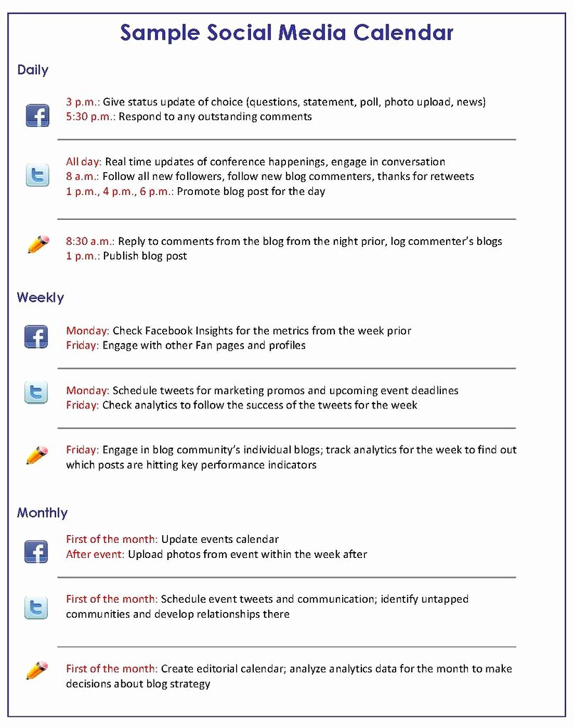 Social Media Proposal Template Elegant How to Get A Handle On Your social Media Schedule Bruce