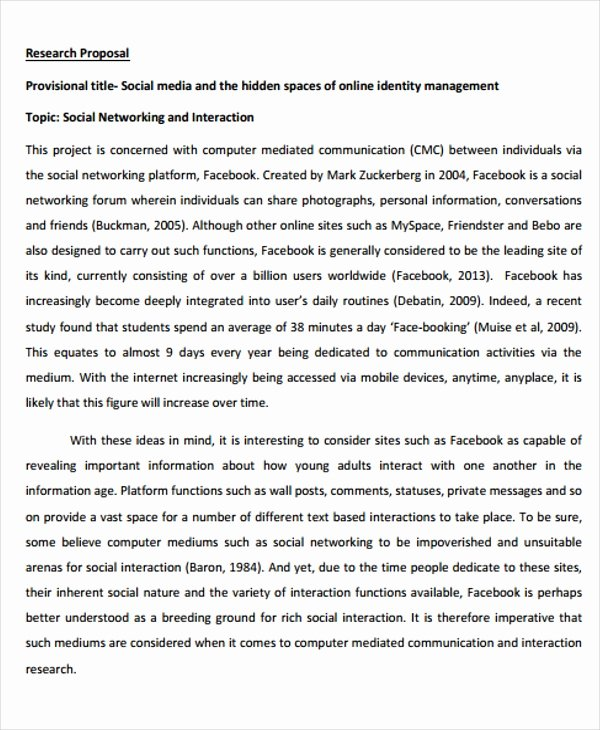 Social Media Proposal Template Fresh 13 social Media Proposal Templates Free Word Pdf format