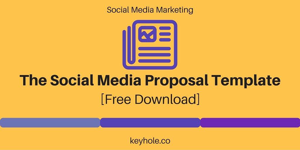 Social Media Proposal Template Fresh social Media Proposal