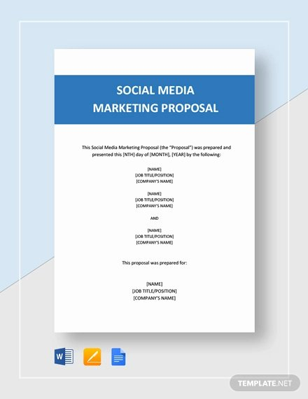 Social Media Proposal Template Inspirational social Media Proposal Template 20 Free Word Pdf
