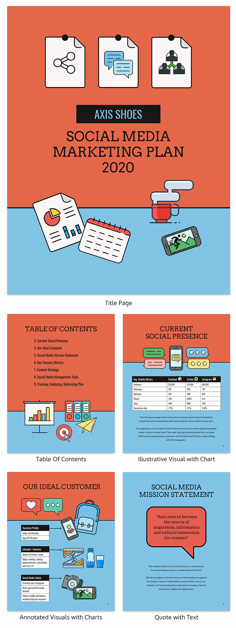 Social Media Proposal Template Lovely Creative social Media Marketing Proposal Template Venngage