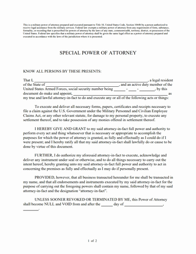 Special Power Of attorney form New Special Power Of attorney form Free Download Create