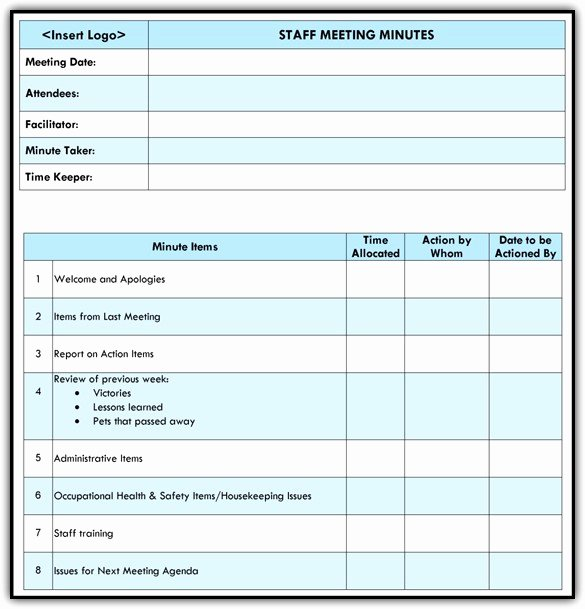 Staff Meetings Agenda Template Beautiful Staff Meeting Agenda Template