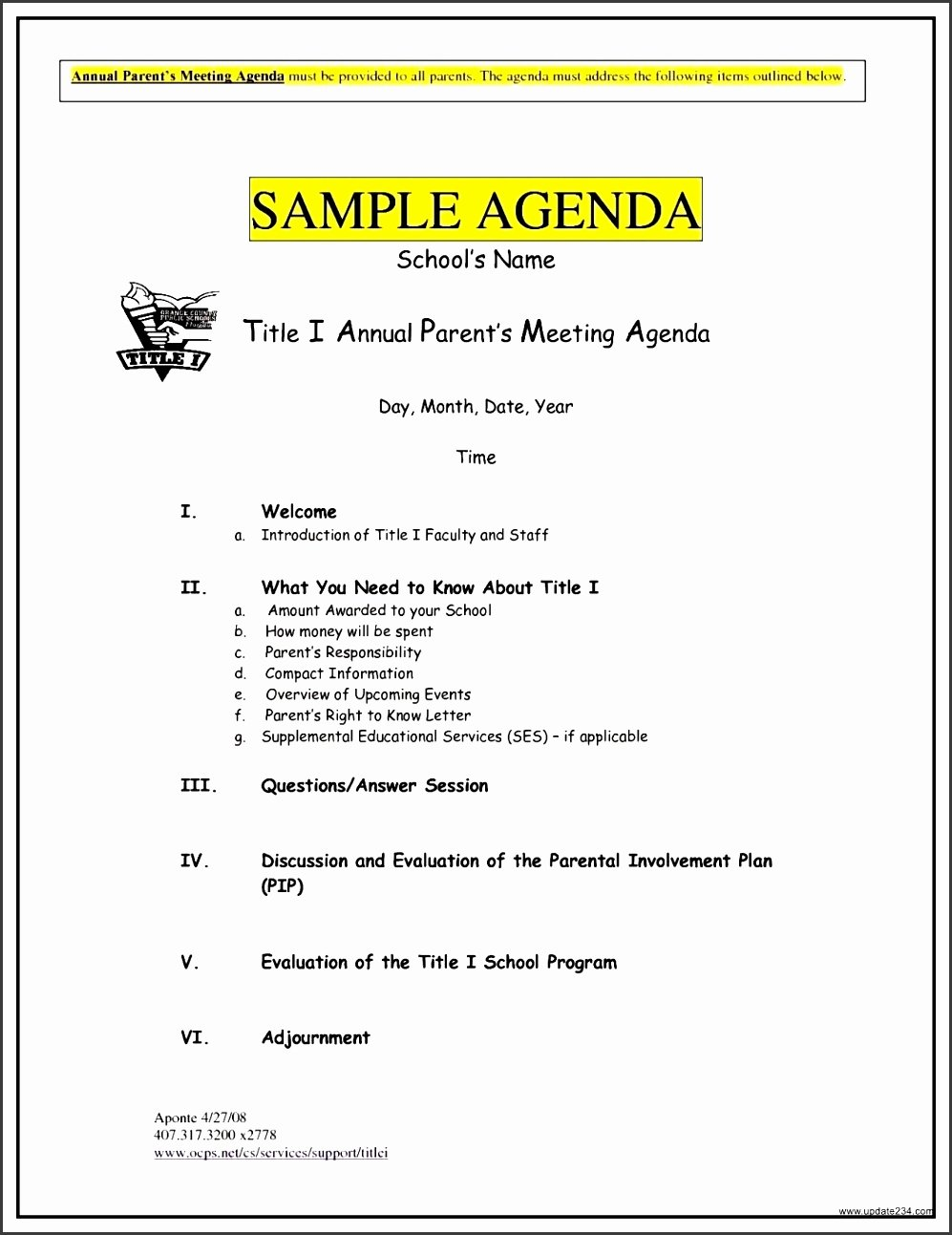 Staff Meetings Agenda Template Best Of 8 Example An Agenda Template Sampletemplatess