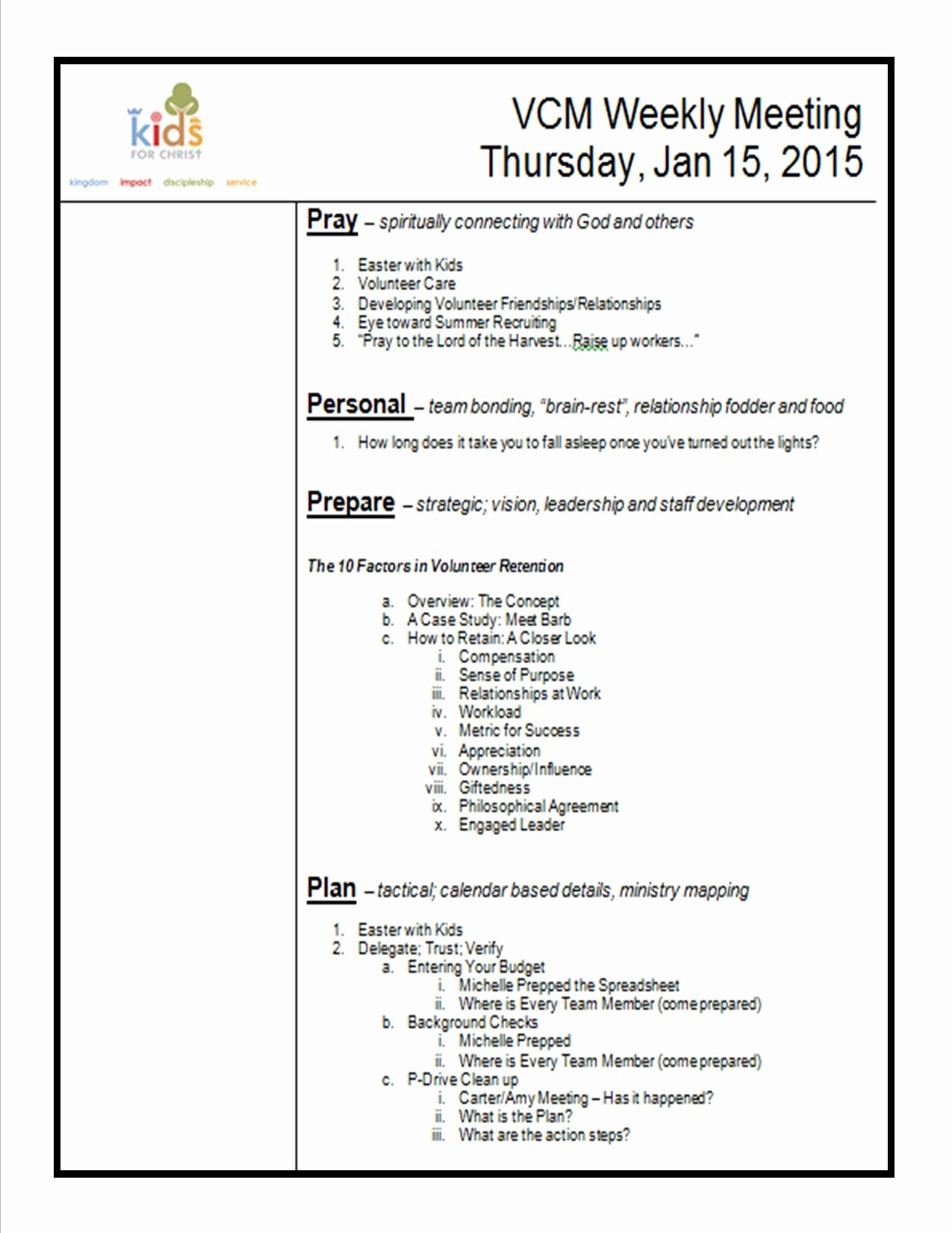 Staff Meetings Agenda Template Best Of How to Create A Meeting Agenda Kidminscience