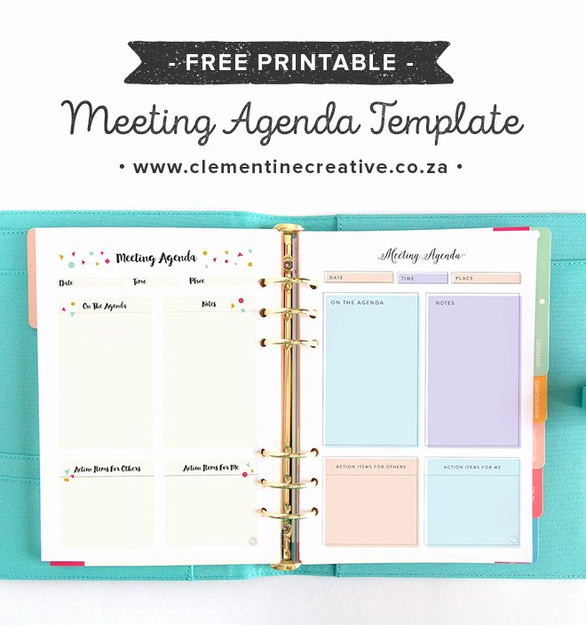 Staff Meetings Agenda Template Luxury Free Pretty Printable Meeting Agenda Templates