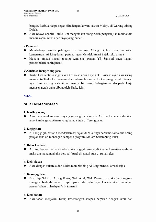 Standard Operating Procedure Sample Pdf Awesome Komsas 2016 Novel Tingkatan 5 Zon Johor Silir Daksina