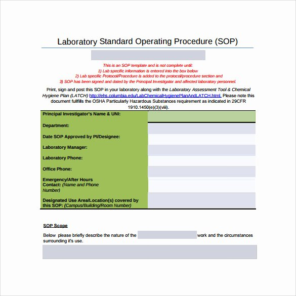 Standard Operating Procedure Sample Pdf Best Of Free 20 Sample sop Templates In Pdf Google Docs