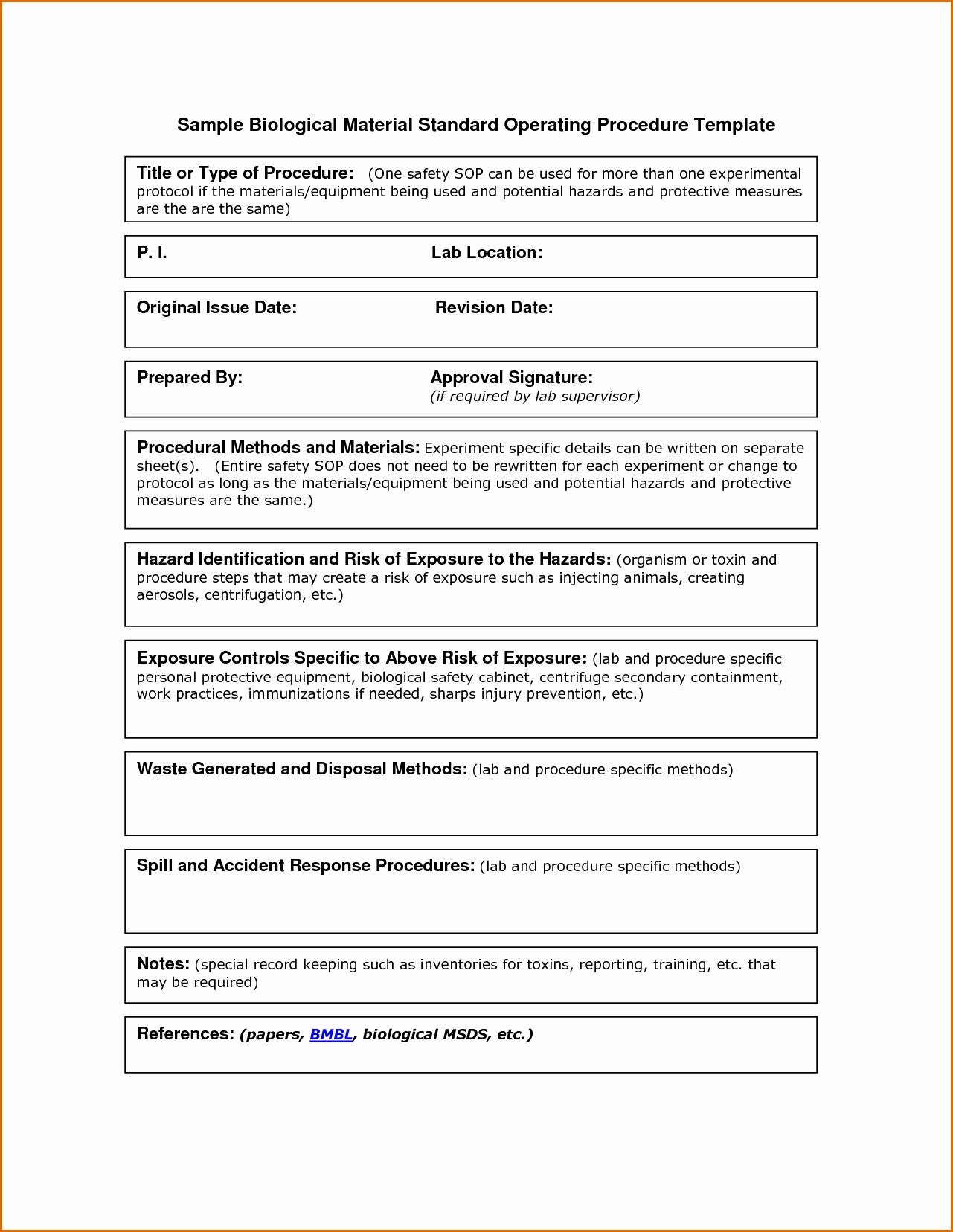 Standard Operating Procedures Template Awesome 13 Standard Operating Procedures Examples