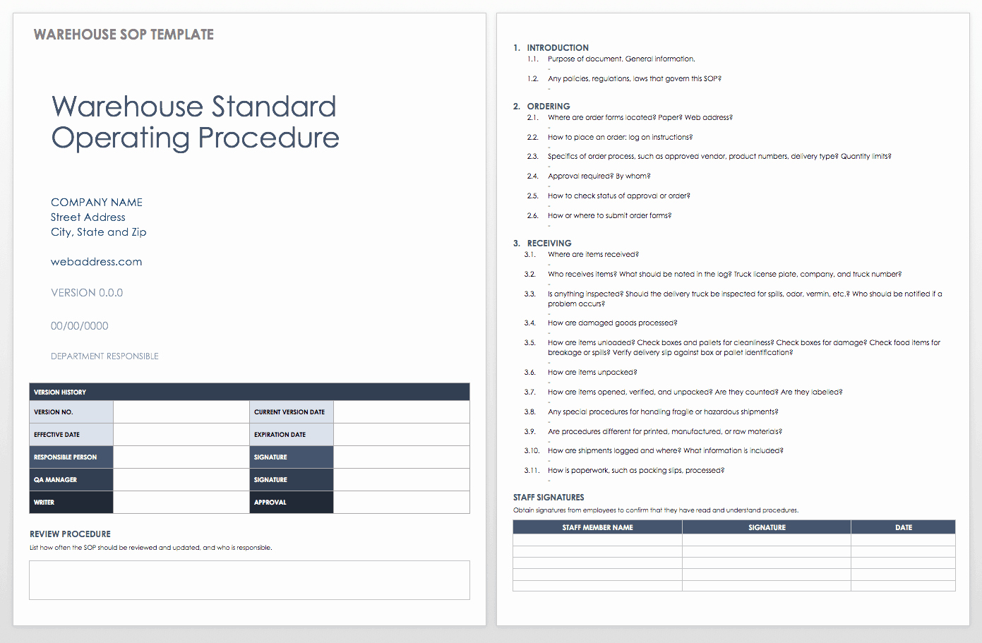 Standard Operating Procedures Template Best Of Standard Operating Procedures Templates