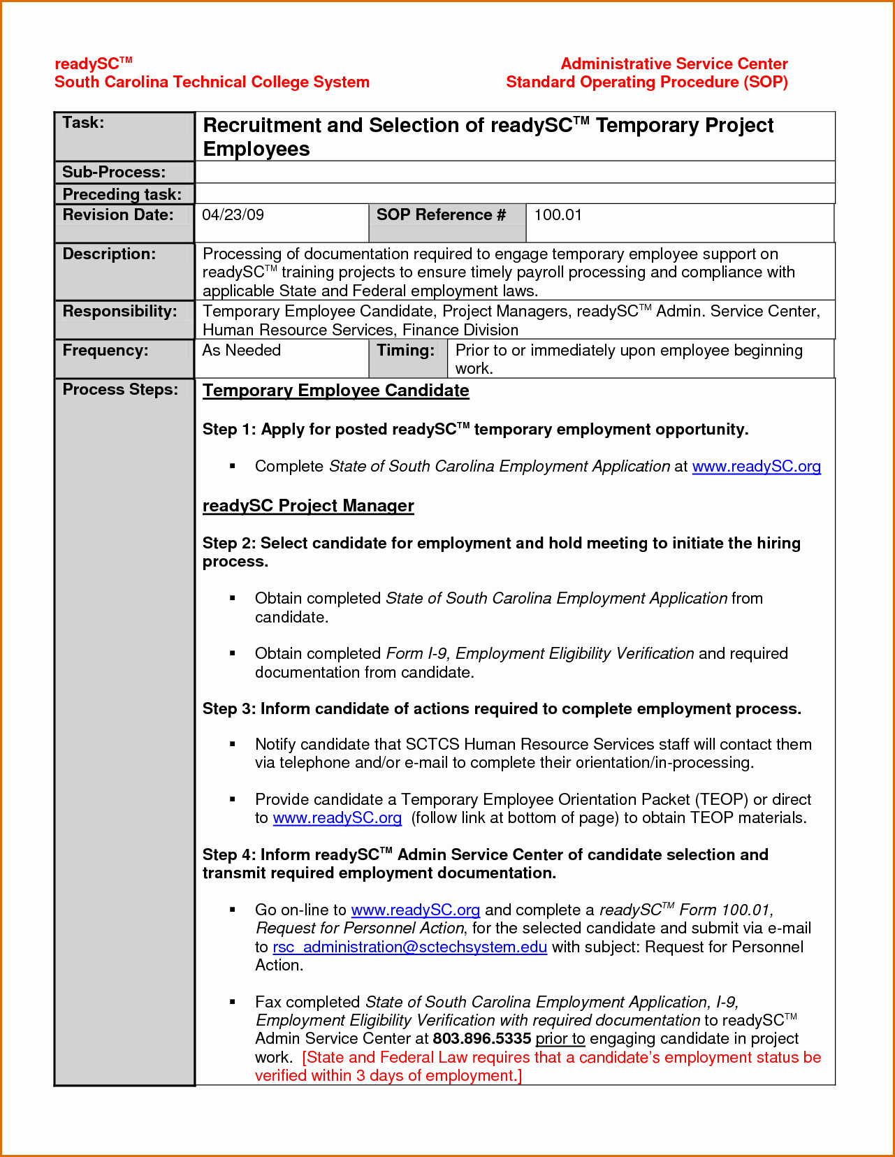 Standard Operating Procedures Template Elegant Standard Operating Procedures Samples