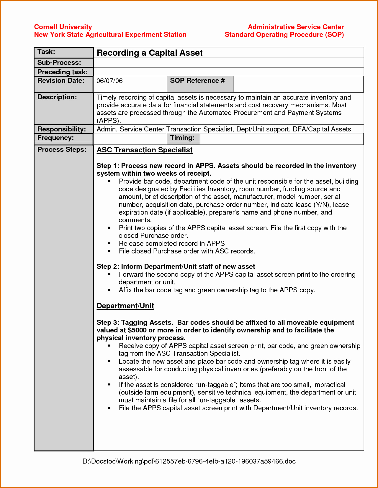Standard Operation Procedure format Lovely 10 Standard Operating Procedure Template