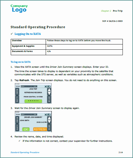 Standard Operation Procedure format New Standard Operating Procedures – Karen Rempel – New York