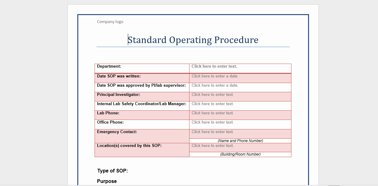 Standard Operation Procedure format Unique 20 Free sop Templates to Make Recording Processes Quick