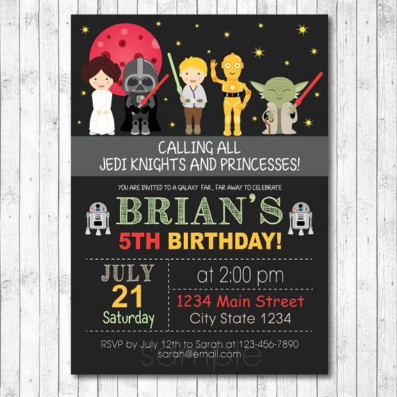 Star Wars Birthday Invitations Beautiful Free Star Wars Birthday Invitations – Free Printable