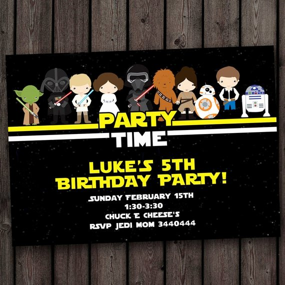 Star Wars Birthday Invitations Beautiful Star Wars Invitation Star Wars Birthday Invitations Fast