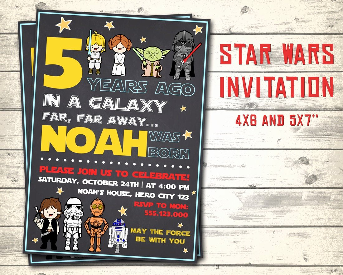 Star Wars Birthday Invitations Best Of Star Wars Invitation Star Wars Birthday Invitation Star Wars
