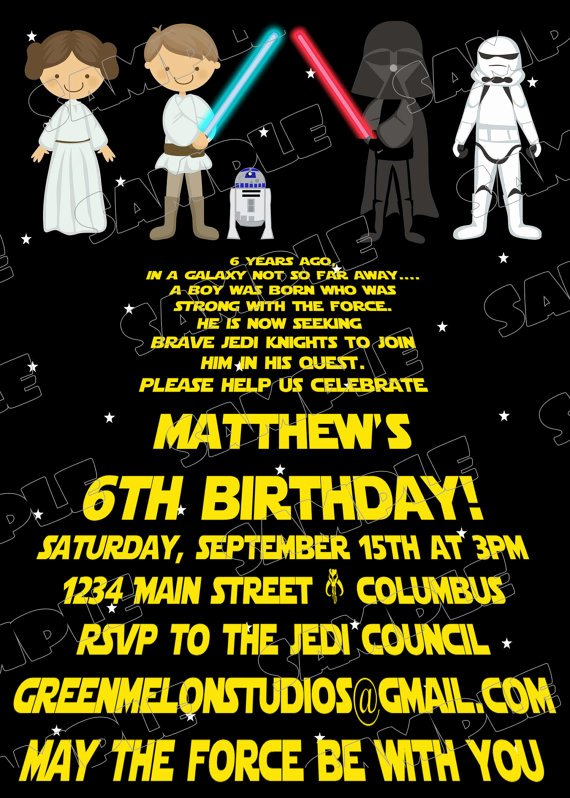 Star Wars Birthday Invitations Elegant Free Printable Star Wars Birthday Invitations – Template