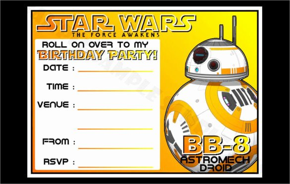 Star Wars Birthday Invitations Fresh 20 Star Wars Birthday Invitation Template Word Psd