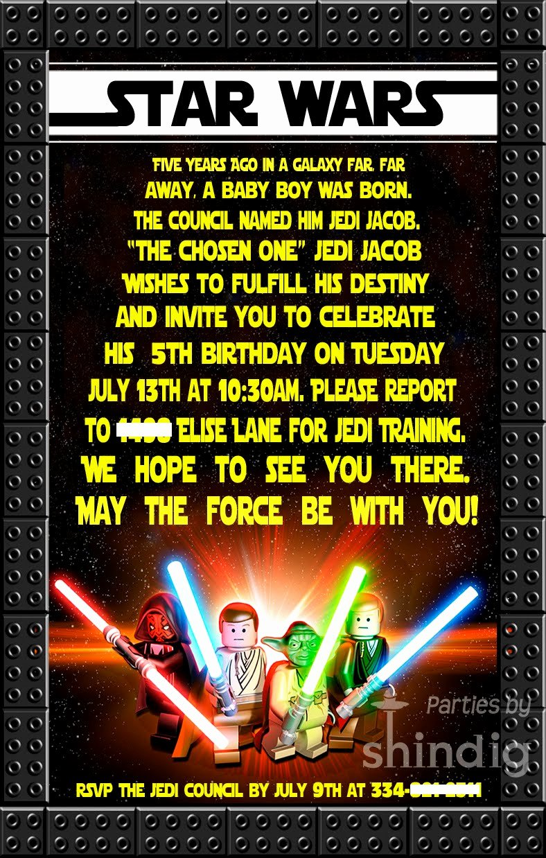 Star Wars Birthday Invitations Lovely Amanda S Parties to Go Star Wars Party Details