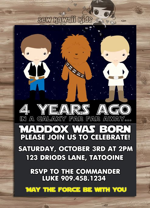 Star Wars Birthday Invitations Lovely Star Wars Invite Star Wars Invite Star Wars Invitation Star