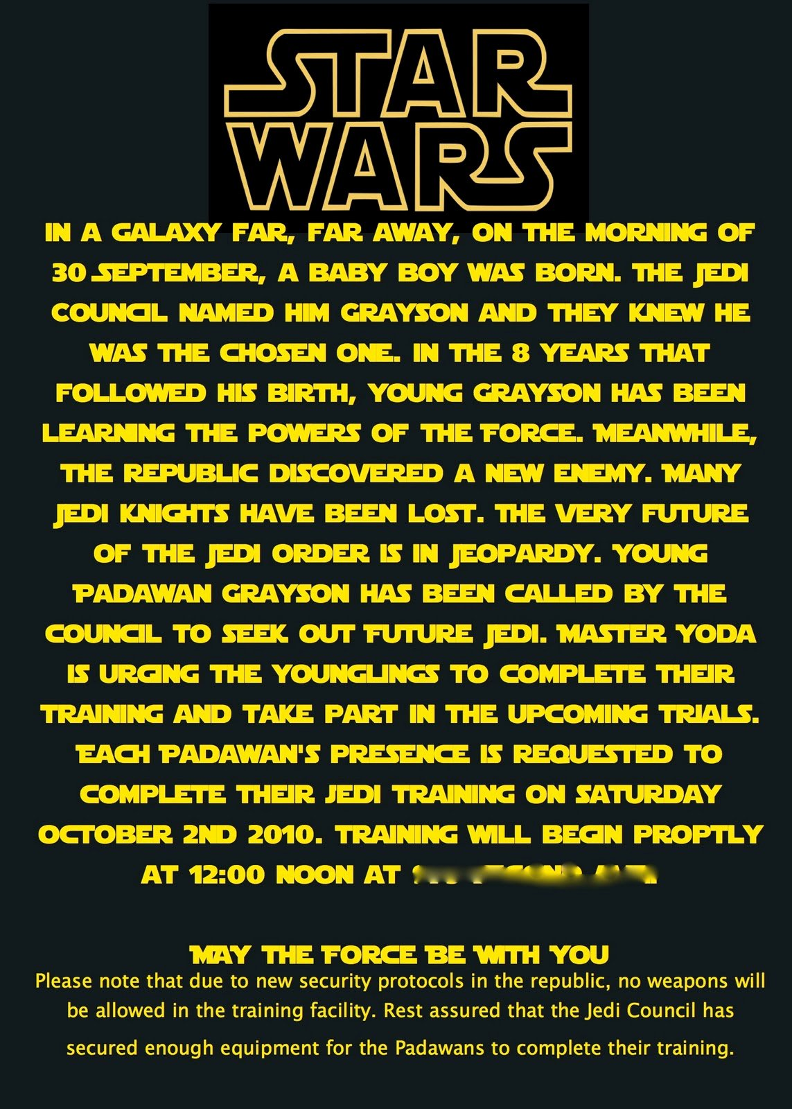 Star Wars Birthday Invitations Luxury at Second Street Star Wars Party What I Did