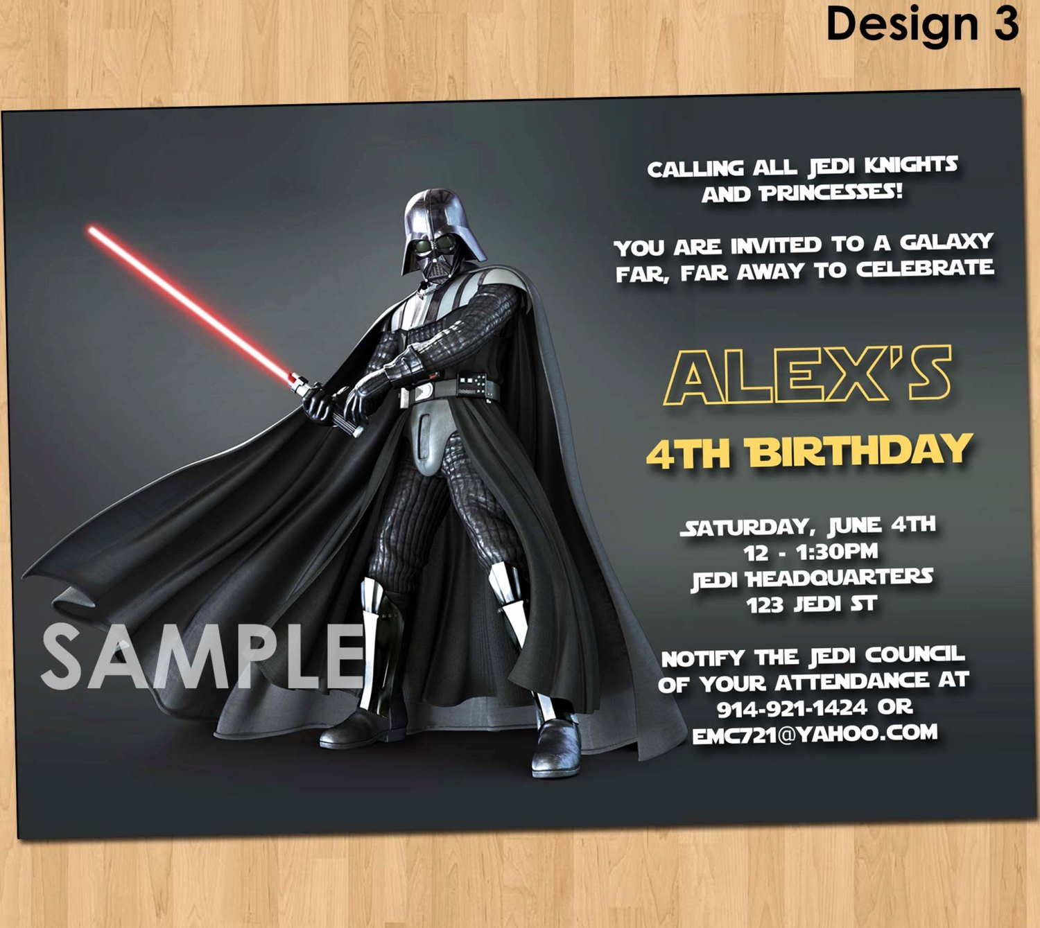 Star Wars Birthday Invitations Luxury Star Wars Invitation Star Wars Party Invitation Star Wars