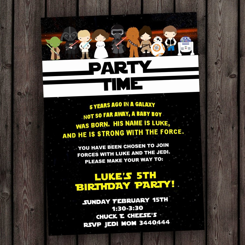 Star Wars Birthday Invitations New Star Wars Invitation the force Awakens Invitation Star Wars