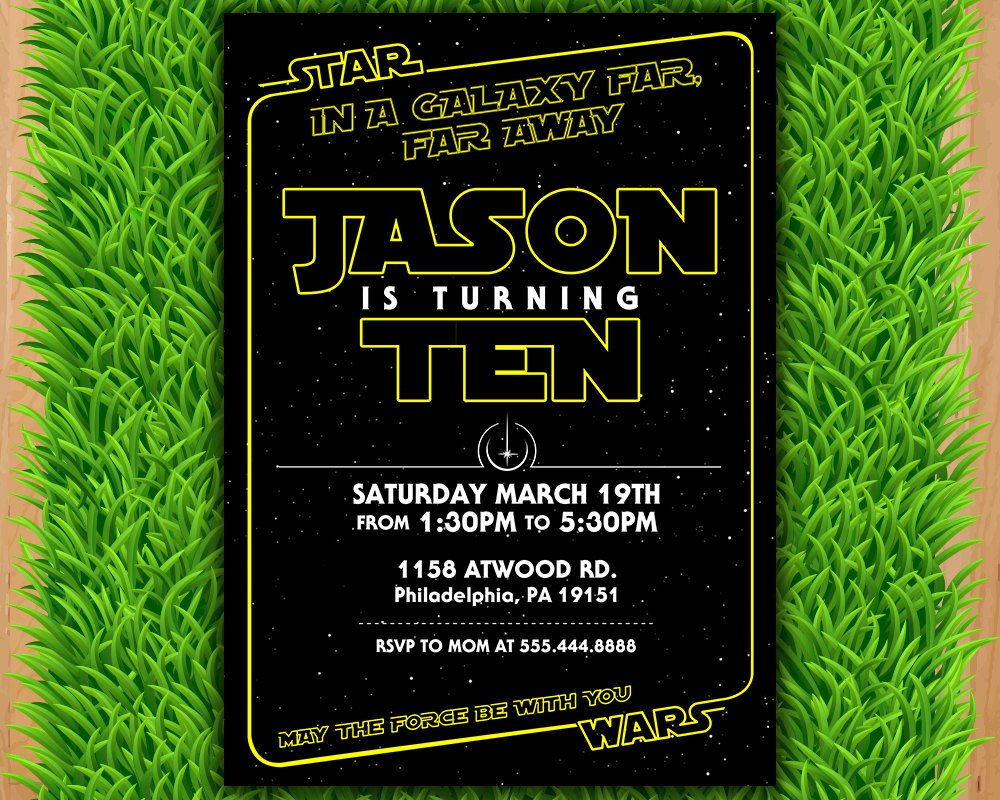Star Wars Birthday Invitations Unique Star Wars Invitation Star Wars Party Invitation Star Wars