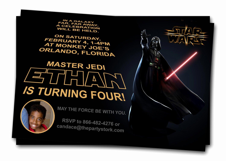 Star Wars Invitation Templates Beautiful Free Printable Star Wars Birthday Invitations – Template