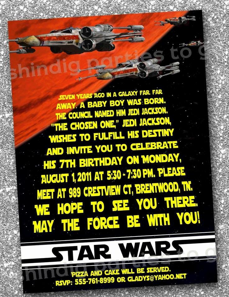 Star Wars Invitation Templates Beautiful Star Wars Birthday Invitations Templates Free