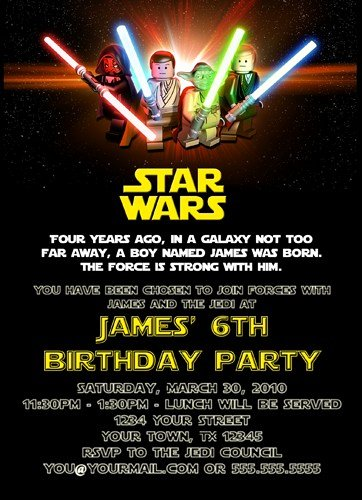 Star Wars Invitation Templates Elegant Free Printable Star Wars Birthday Invitations Template