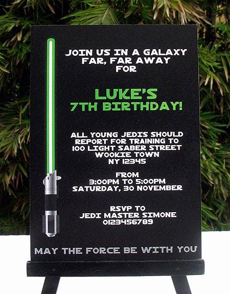 Star Wars Invitation Templates Elegant Star Wars Jedi Training Birthday Party Printables