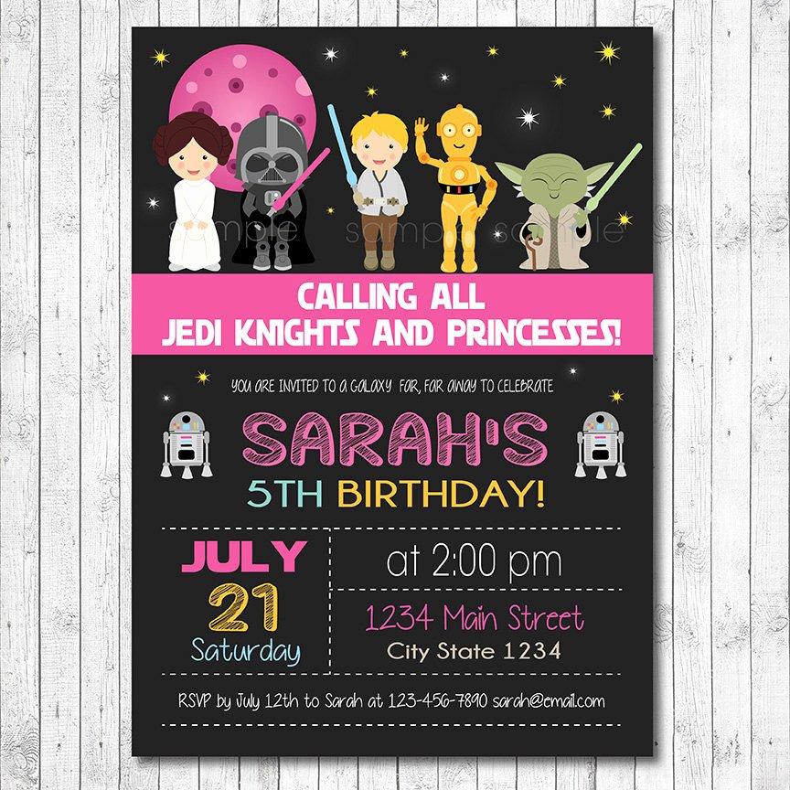 Star Wars Invitation Templates Fresh Star Wars Birthday Invitation Star Wars Invite Star Wars