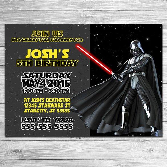Star Wars Invitation Templates Inspirational 20 Star Wars Birthday Invitation Templates – Free Sample