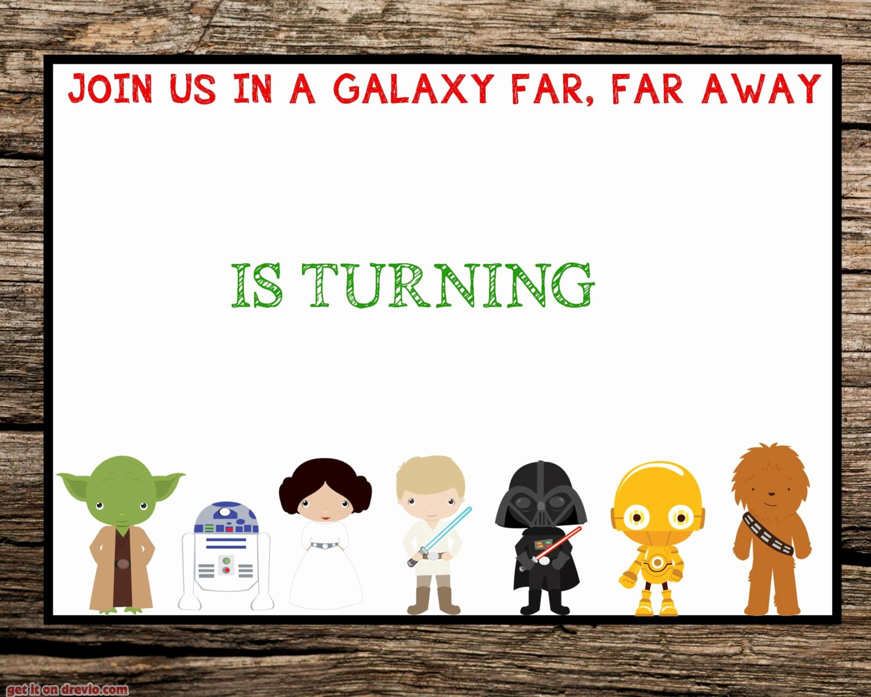 Star Wars Invitation Templates Inspirational 32 Amazing Star Wars Birthday Invitations