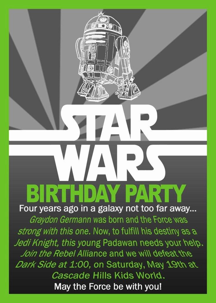 Star Wars Invitation Templates Inspirational Free Printable Star Wars Birthday Invitations