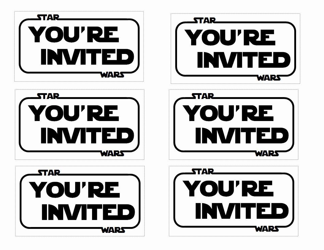 Star Wars Invitation Templates Inspirational the Contemplative Creative Star Wars Party Invitation