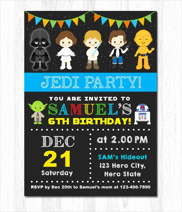 Star Wars Invitation Templates Lovely Free Star Wars Birthday Invitations – Free Printable