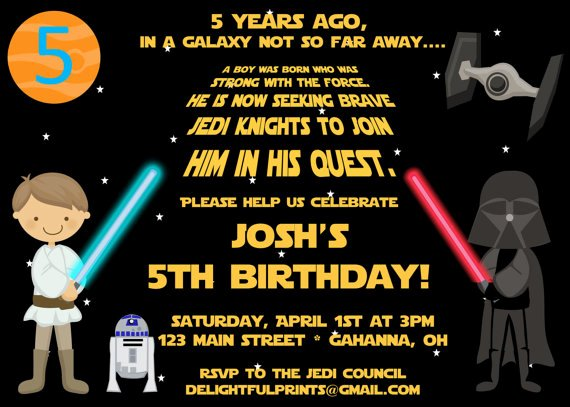 Star Wars Invitation Templates Lovely Free Star Wars Birthday Promo Invitation Template