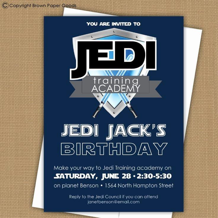 Star Wars Invitation Templates Lovely Star Wars Invitation Jedi Training Academy Invitation