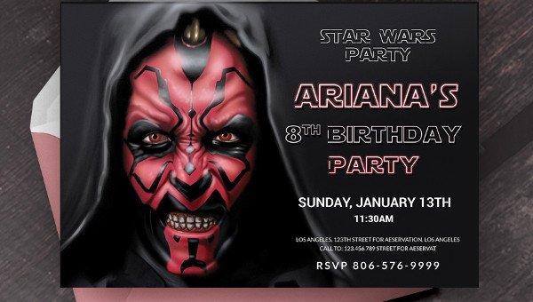 Star Wars Invitation Templates New 20 Star Wars Birthday Invitation Template Word Psd