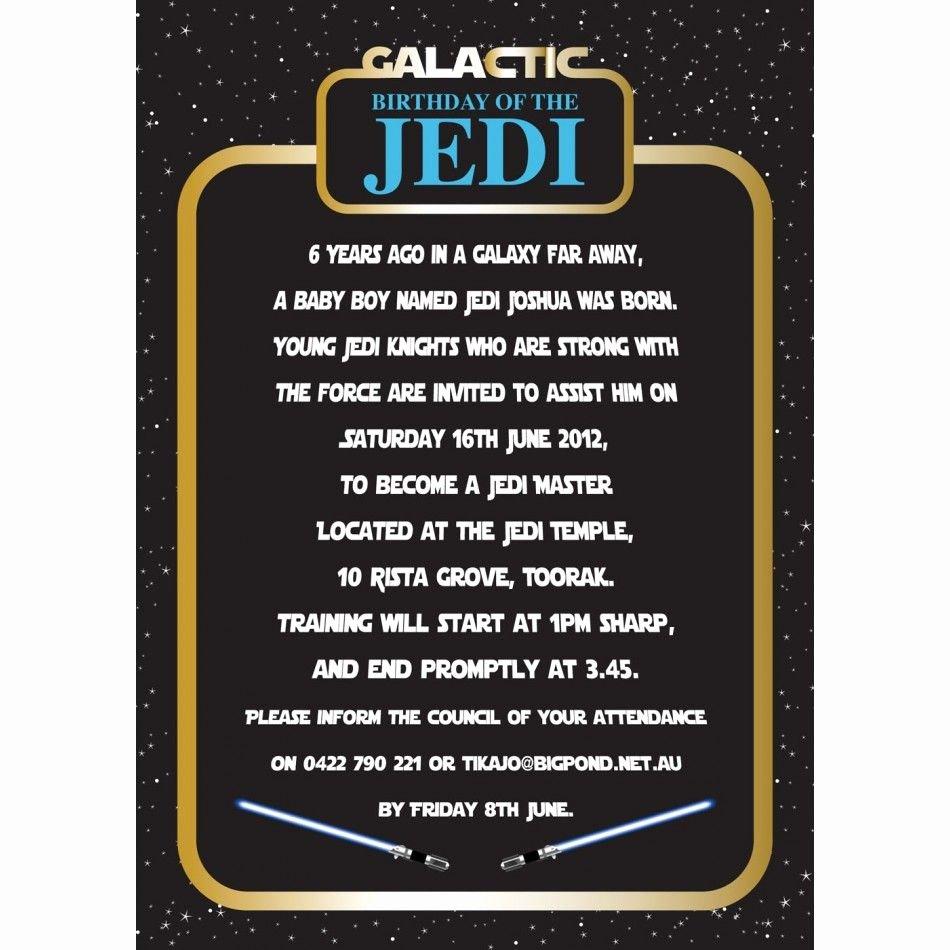 Star Wars Invitation Templates New Invitation Star Wars