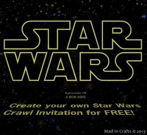 Star Wars Invitation Templates New Star Wars Crawl Video Birthday Invitation Mad In Crafts