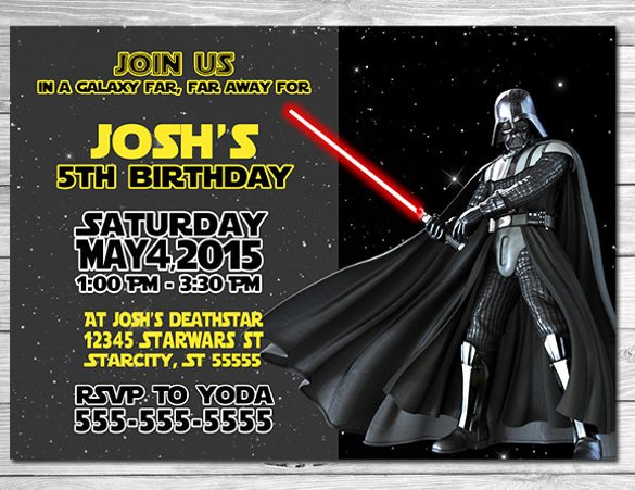 Star Wars Invitation Templates Unique 11 Star Wars Birthday Party Invitations Psd Vector Eps
