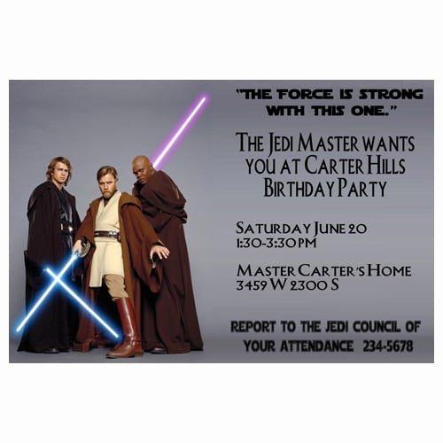 Star Wars Invitation Templates Unique Star Wars Invitation Template