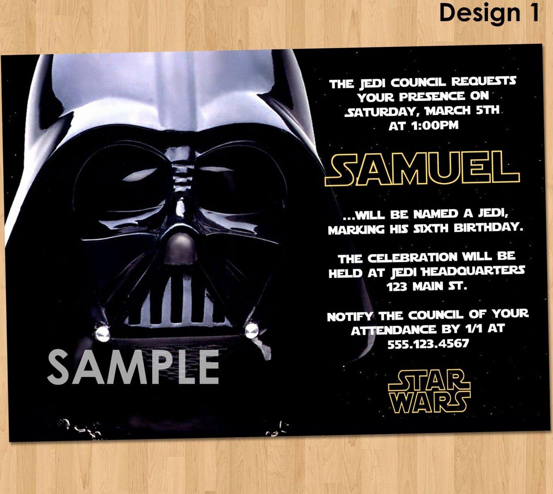 Star Wars Invitation Templates Unique Star Wars Party Invitation Star Wars Party Printable Star