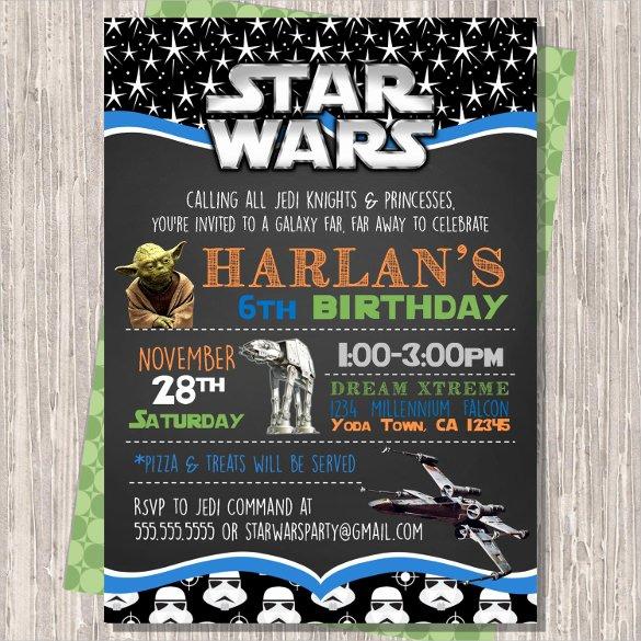 Star Wars Invitations Free Printable Beautiful 20 Star Wars Birthday Invitation Template Word Psd