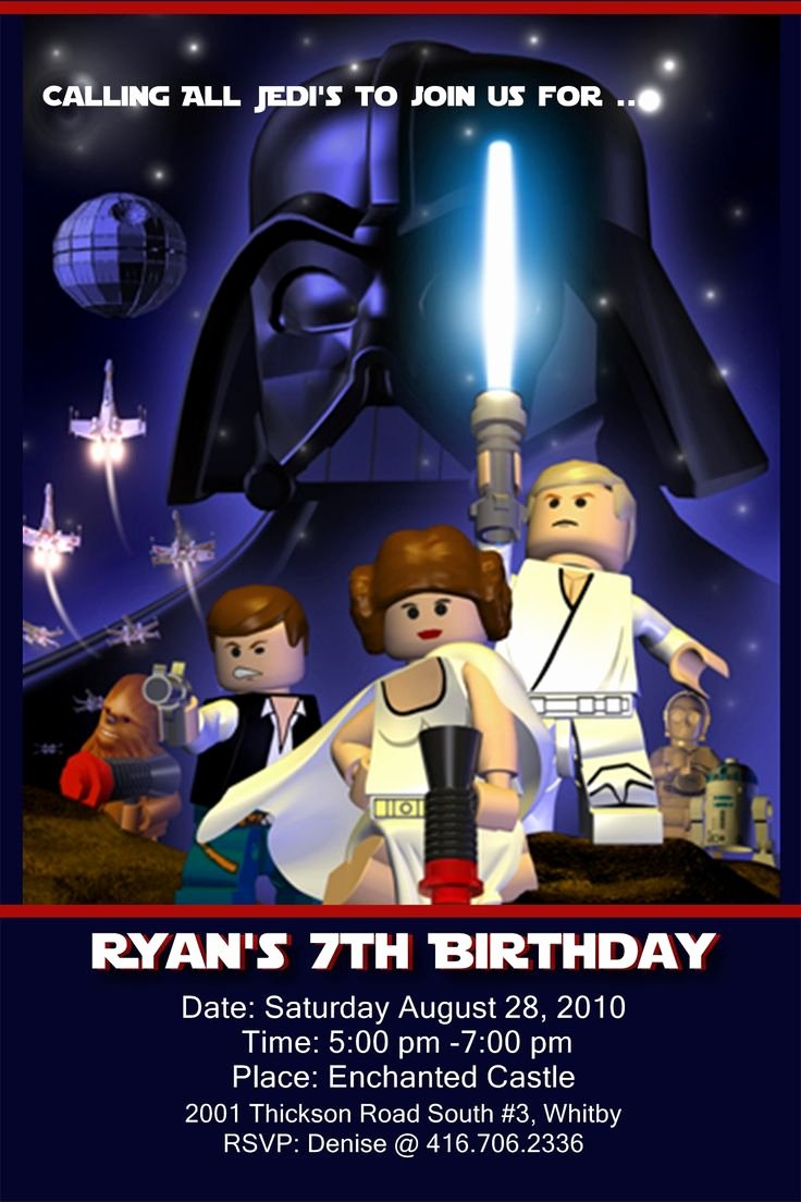 Star Wars Invitations Free Printable Elegant 17 Best Images About Lego Star Wars Invites On Pinterest