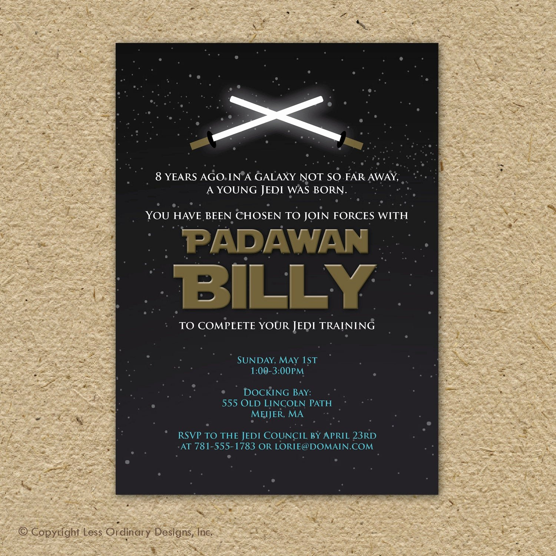 Star Wars Invitations Free Printable Elegant Star Wars Birthday Party Invitation Printable by
